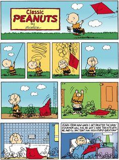 Kite eater peanuts comic strip