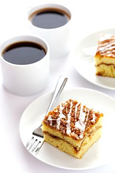 This Sour Cream Coffee Cake recipe is easy to make, perfectly soft and moist, and filled with the BEST cinnamon-y sweet flavors. It's the perfect sweet treat for breakfast, brunch, or dessert. | gimmesomeoven.com