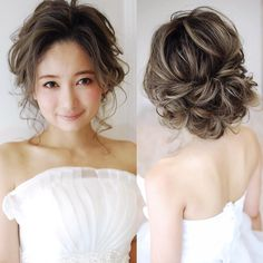 """WEDDING ❤上手なヘアメイクさんのブライダルヘアメイク❤ #weddinghair #ウェーブヘア #ウェディング #ヘアスタイル #updo #wedding #hairstyle #bride #novia #sposa #mariee #hairmakeupartist # (@haircamp.jp) on Instagram: """"同業者からも上手いと絶賛されるgekkabijinさんが求人募集されています✨経験者はもちろん、地方からの上京も業界1のサポート力 レギュラースタッフ、登録ヘアメイクともに募集されています必見…"""""""