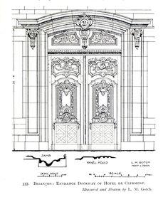 The doorway of the Hôtel de Clermont, Besançon