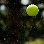A Logaritmical Spiral Appears Around a Wet Tennis Ball Photographed by Arvin Rahimzadeh