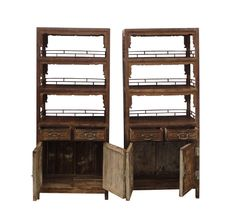 Pair Chinese Antique Bamboo Bookcase Flower Vase Carving Display Cabinet WK2167a Chinese Furniture, Chinese Antiques, Flower Vases, Bookcase, Bamboo, Carving, Scene, Shelves, Display