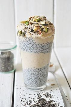 chia pudding with nana-cinnamon icecream