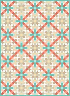 Lattice designed by Robert Kaufman Fabrics. Features #konacotton. FREE pattern will be available to download from robertkaufman.com in November 2015. #FREEatrobertkaufmandotcom