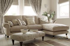Kingston Upholstered Chaise End Sofa - Right Hand Facing - Laura Ashley made to order in the sale at the mo!