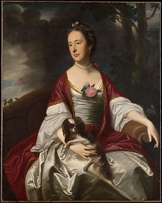 John Singleton Copley (American, 1738–1815). Mrs. Jerathmael Bowers,ca. 1763. The Metropolitan Museum of Art, New York. Rogers Fund, 1915 (15.128) #dogs
