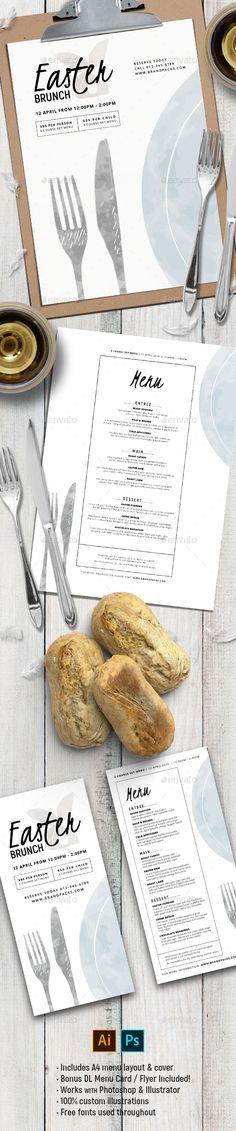 Easter Menu Vol.4 - Food Menus Print Templates