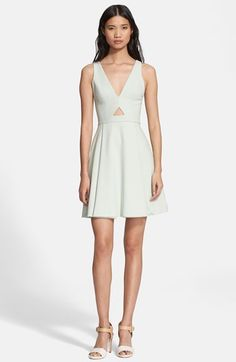 Alice + Olivia 'Nina' Cutout Fit & Flare Dress available at #Nordstrom