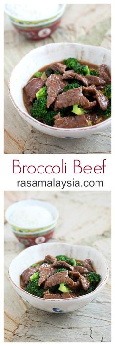 Broccoli Beef - silky and tender beef and healthy broccoli in a super yummy brown sauce | rasamalaysia.com