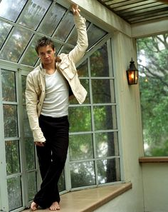 Jeremy Renner Promotional Photoshoot for Abercrombie and Fitch. 2003