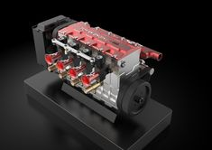 TOYAN FS-L400 14cc Inline 4 Cylinder Four-stroke Water-cooled Nitro En - EngineDIY Nitro Engine, Gasoline Engine, Gear Pump, Gaming Room Setup, Water Cooling, Rc Model, Inline, Rc Cars, Airplane