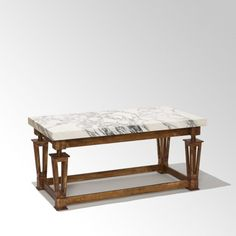 Neoclassical coffee table by Gilbert Poillerat