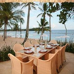 Casa de Campo, Dominican Republic  Le Cirque - great food & right on the beach.