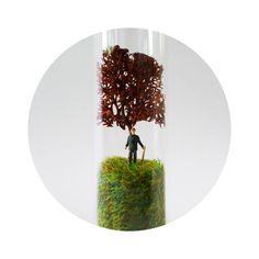 Handmade miniature landscape. Unique ecosystem in door FRAGILEtaller, $49.50