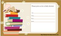 Free Printable Invitations for Book Themed Baby Shower