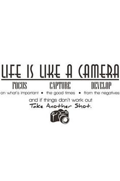 PFDECALA Life Is Like A Camera Wall Decal