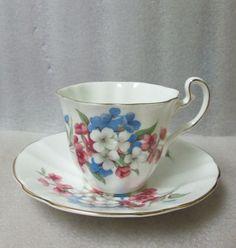 ADDERLEY China Tea CUP & SAUCER impatients Patt H1260 GOLD TRIM Vintage #AdderleyEngland