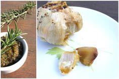 Potato Roasted garlic Soup with Rosemary pesto