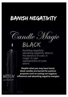 Light a white candle first for protection before lighting a black candle. -Taught by an English Druid.