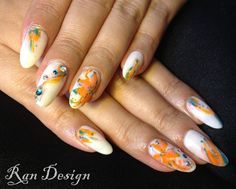 Calgel Nails, My Nails, The Cure, Nail Art, Hand Painted, Cream, My Favorite Things, Painting, Creme Caramel