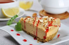 This recipe for maple cheesecake is easy to throw together when you need a yummy dessert. Maple Cheesecake Recipe from Grandmothers Kitchen. Cookie Desserts, Fun Desserts, Delicious Desserts, Yummy Food, No Bake Pumpkin Cheesecake, Cheesecake Recipes, Cheesecake Pie, Strawberry Cheesecake, Baked Strawberries