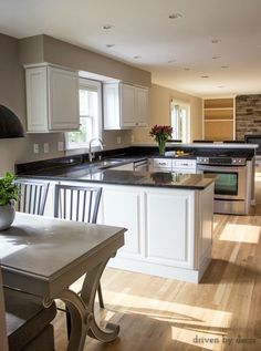 After of a budget kitchen remodel with refaced cabinets