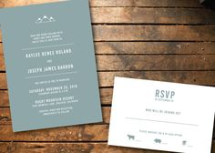 Mountain Wedding Invitation Package // by LettersandAlchemy