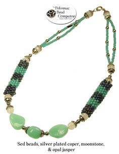 Hollow peyote necklace from The Potomac Bead Company  http://www.potomacbeads.com