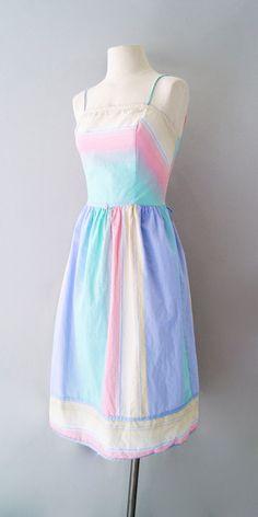 I love pastel 80's dresses