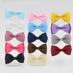 New 14 color High Quality 3 inch Grosgrain silk Ribbon Boutique Hair Bows With Clip Hairpins For Kids Girl Hair Accessories #>=#>=#>=#>=#> Click on the pin to check out discount price, color, size, shipping, etc. Save and like it!