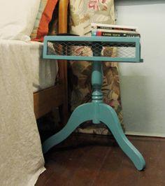 DIY: Gift tray + dress form base = side table after... www.deservingdecor.org
