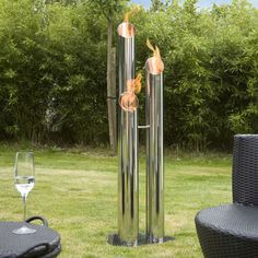 Outdoor Pipes Fire Columns