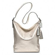 Found a new goal to save for...LEGACY METALLIC LEATHER LARGE DUFFLE