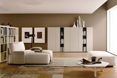 Graphos Bookcase - The combination of open and closed modules with Graphos elements