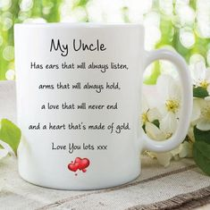 Items similar to Grandma Mug Love You Lots Heart Of Gold Always Listens Gifts For Her Birthday Gift Christmas Present Quote Mugs Cups Nana Nanny on Etsy Christmas Present Quotes, Be Present Quotes, Rude Mugs, Sisters Coffee, Grandma Mug, Wedding Mugs, Valentines Mugs, Birthday Mug, Gold Birthday