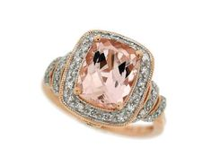 Exquisite Diamond Ring Settings   Exquisite morganite and diamond ring set in by 4FireflyCollections, $ ...
