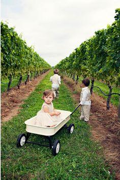 Children at Vineyard Wedding