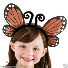 ORANGE MONARCH BUTTERFLY WINGS HEADBAND FREE SAME DAY SHIPPING