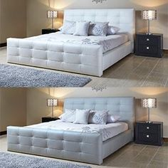 Venice Top Grain Leather Bed Collection from Costco - this is my future king-sized bed!