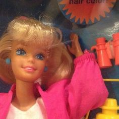 Mattel Camp Barbie 1993 is NRFB Doll with Backpack * Hair Changes Color *