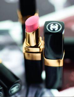 Chanel pink lipstick.