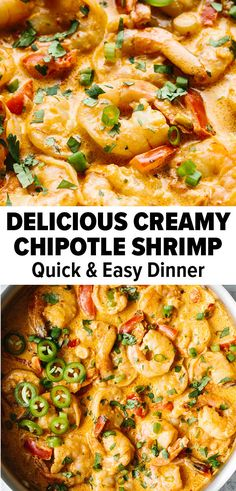 Recipes With Chipotle Sauce, Shrimp And Rice Recipes, Creamy Pasta Recipes, Shrimp Recipes For Dinner, Fish Recipes, Seafood Recipes, Healthy Dinner Recipes, Mexican Food Recipes, Cooking Recipes