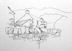 A quick(10 minute)line sketch of Langdale in the Lakes | Flickr