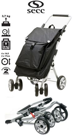 The Secc Capetown Ultimate shopping trolley is built to perform! An impeccable sleek designer look, and large capacity bag storing up to a whopping 30kg, makes this the ideal trolley for all your shopping needs. The hard wearing front swivelling wheels effortlessly rotate 360 degrees, regardless of the weight so that shopping is much easier. The trolley is also built with two larger size back wheels, meaning it is easier to negotiate steps and stairs when obstacles come along.