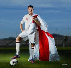 Steven Gerrard for England Liverpool Football Club, Liverpool Fc, Stevie G, Captain Fantastic, You'll Never Walk Alone, Steven Gerrard, Football Players, Soccer, England