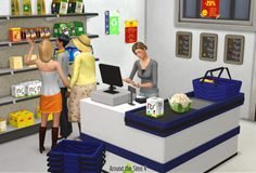 Around the Sims 4 | Grocery Furniture It was one of my Sims 3 classics, and something that has been requested many times: my grocery furniture! I might add later all my grocery clutter, so honestly, so many have been done already that I'm not sure...