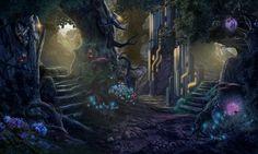 #forest #way #rocks #rock  #nature #tree #wierd #wild #art #gamedev #gameart #gamedevelopmentart #gaming #game #madheadgames #creepy #dark  #stairs #sf #scifi #flowers