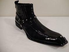 Zota Unique Black Strap Studded Boot