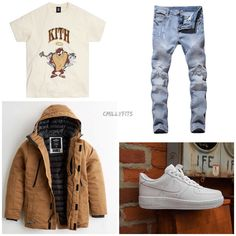 Swag Outfits Men, Tomboy Outfits, Black Men Street Fashion, High School Outfits, Fresh Outfits, Outfit Grid, Everyday Outfits, Hypebeast, Wave