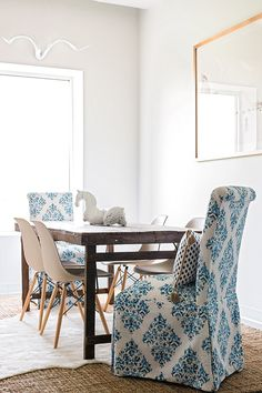 Blue and white dining room Waiting On Martha